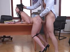 Office sex in crazy modes with the young secretary