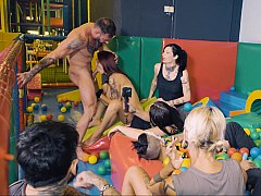 Ball pit orgy with beautiful Euro girls