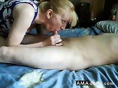 Adult girl handjob and cum swallow-CFNM