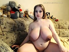 Bbw fat chick strips on webcam