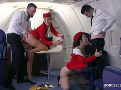 Alexis Crystal and Misha Cross are VIP stewardesses who were hired regarding perform everything regarding please dudes