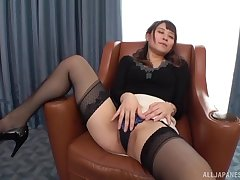 Konoka Yura likes anent ride on her lover's hard penis on be transferred to armchair
