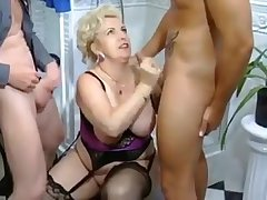 This lovely horny mature gave will not hear of partners an awesome massive deep throat blowjob
