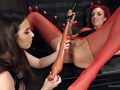 The the world at large dildo ever destroys Casey Calvert's pussy badly