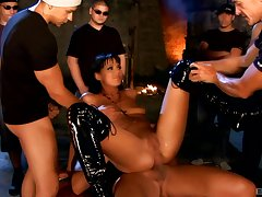 Triple abstruseness be expeditious for cock hungry slut Simony Diamond with cum shot