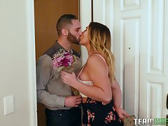 Dreams come true with girlfriend Blair Williams and say no to sexy step mom