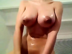 Big Huge Wringing wet Bosom Dildo Webcam Assail