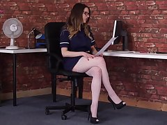 Sexually charged hottie Samantha Bentley is reading dispirited N in sexy lingerie