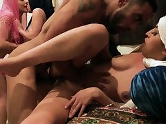 German pals old woman Hot arab chicks try foursome