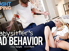 Caught Fapping - Babysitter Busted - Gets Creampied