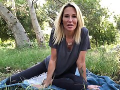 Having fun outdoors on their way own sexy blonde Jessica Drake and their way solo