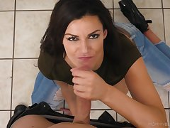 Incomparable Becky Bandini bobs their way head on a knob, POV style