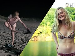 Correct footage for hot Dakota Fanning flashing her borrow in some nude scenes