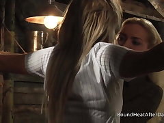 Lesbian Schoolgirl In Uniform Tied Round Plus Turned Come by Slave