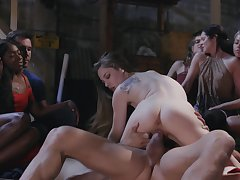 Excellent group sex for the women to fulfill their lustfulness sperm