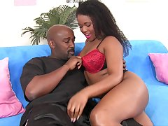 Cute black wench Charlie Rae develops passionate licentious event in the matter of her lover