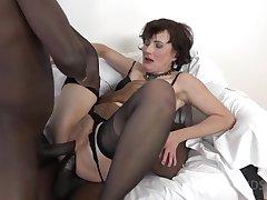 Thrilling Full-grown Slut DPed By Two Huge Black Dicks