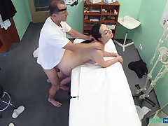 Doctor fucks brunette patient increased by films say no to in secret
